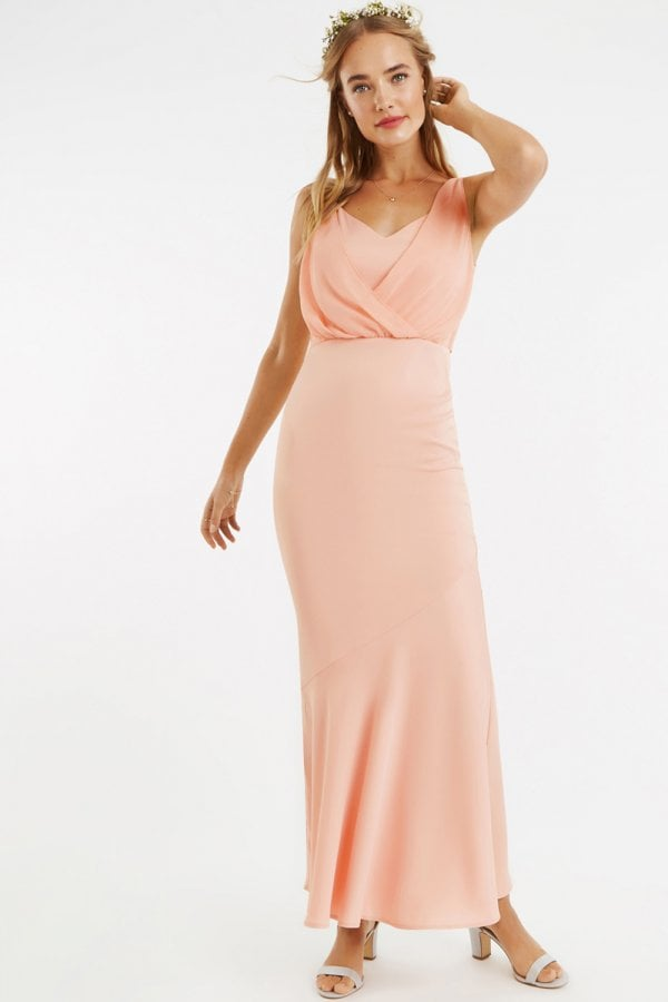 b9702e2accf Oasis Dusty Pink Emily Bow-Back Maxi Dress - Oasis from Little ...