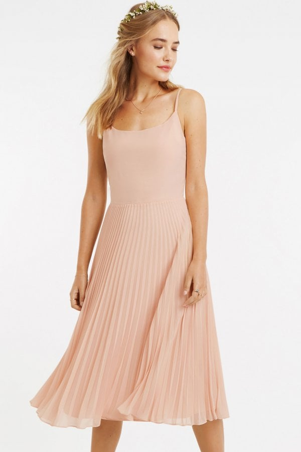 a0996dc48c92 Oasis Dusty Pink Lace Top Midi Dress - Oasis from Little Mistress UK