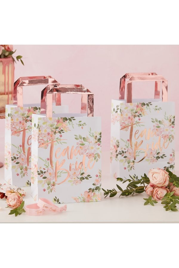 Ginger Ray Floral Team Bride Party Bag