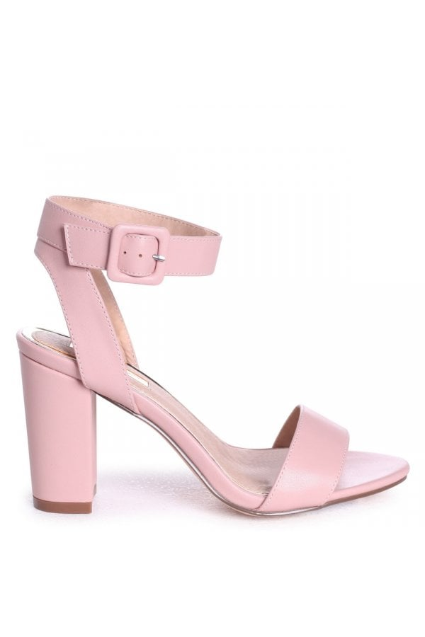 fb0ffad9a51 ... Linzi MILLIE - Dusky Pink Open Toe Block Heel With Ankle Strap And  Buckle Detailclass  ...