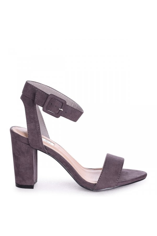 1cf64de02cc ... Linzi MILLIE - Grey Suede Open Toe Block Heel With Ankle Strap And  Buckle Detailclass  ...