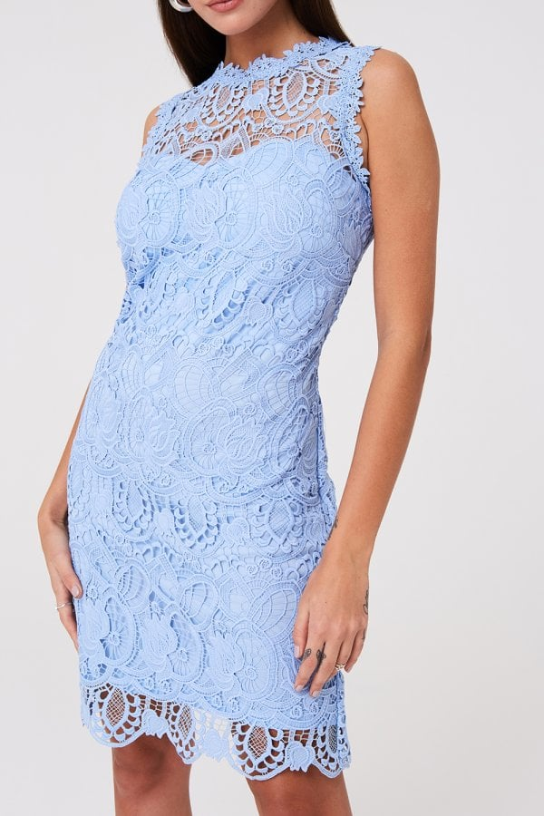Paper Dolls Grafton Blue Lace Shift Dress by Little Mistress