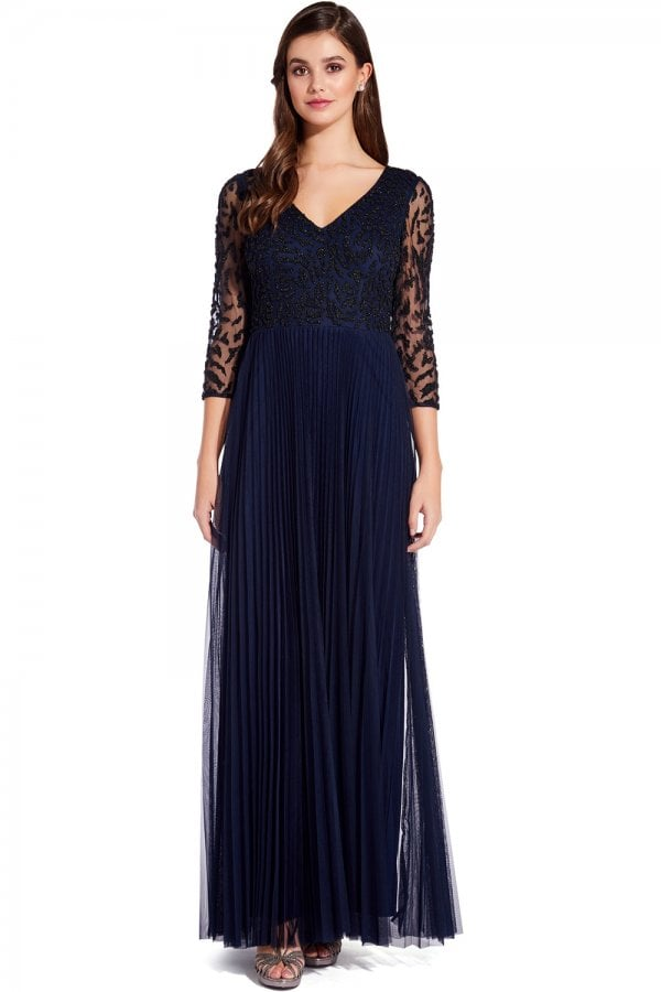 fb65c9b3fb366 Adrianna Papell Midnight Beaded Maxi Dress - Adrianna Papell from ...