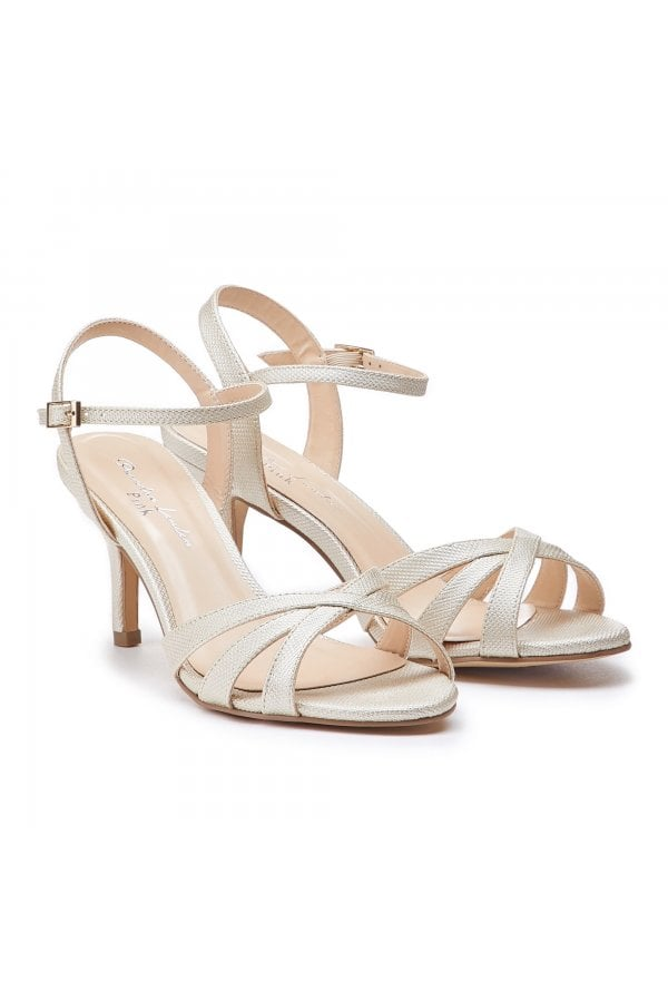 0d2fa3268084 ... Paradox London Hero Wide Fit Champagne Low Heel Strappy Sandalsclass   ...