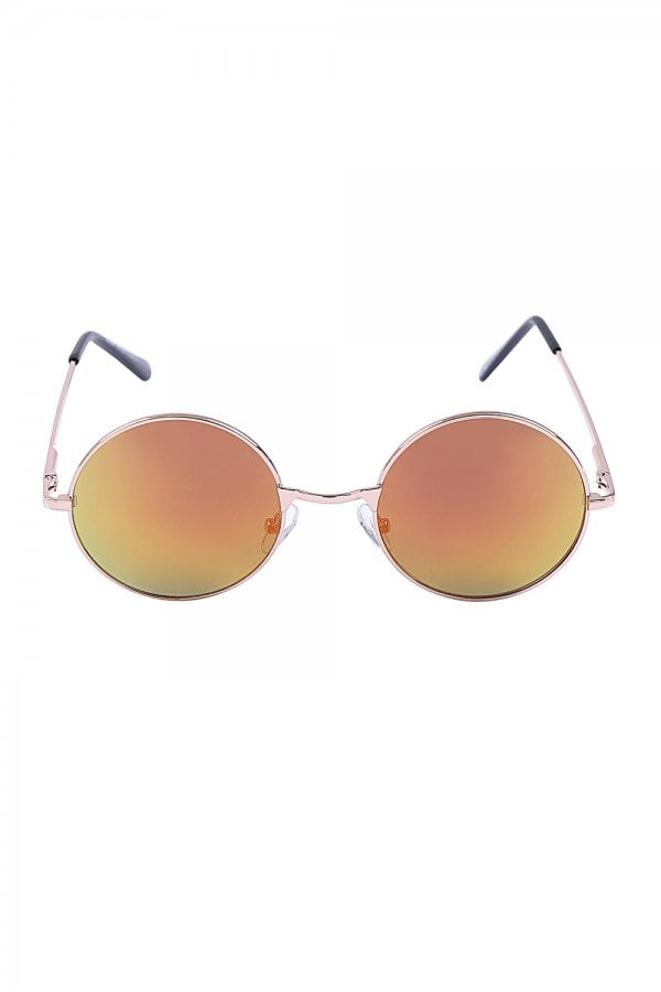 Jordan Orange Round Festival Ready Sunglasses