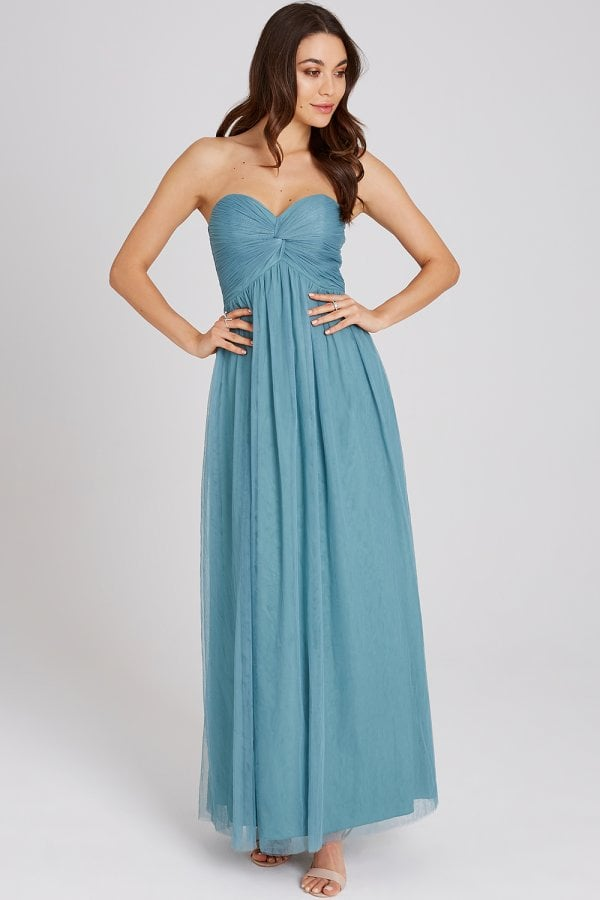 f01812811ca0f Little Mistress Ffion Fern Bandeau Maxi Dress - Little Mistress from ...