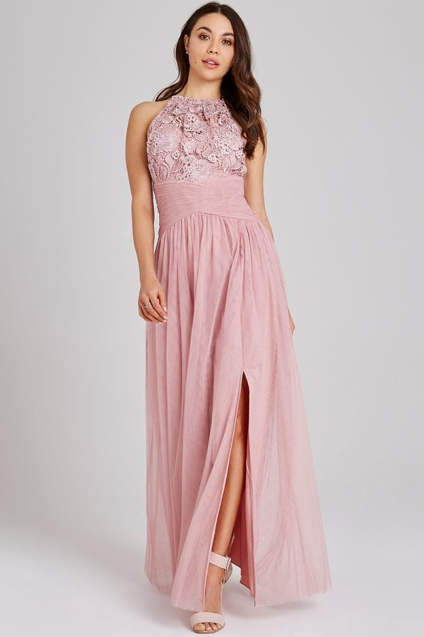 Edith Rose Lace Maxi Dress