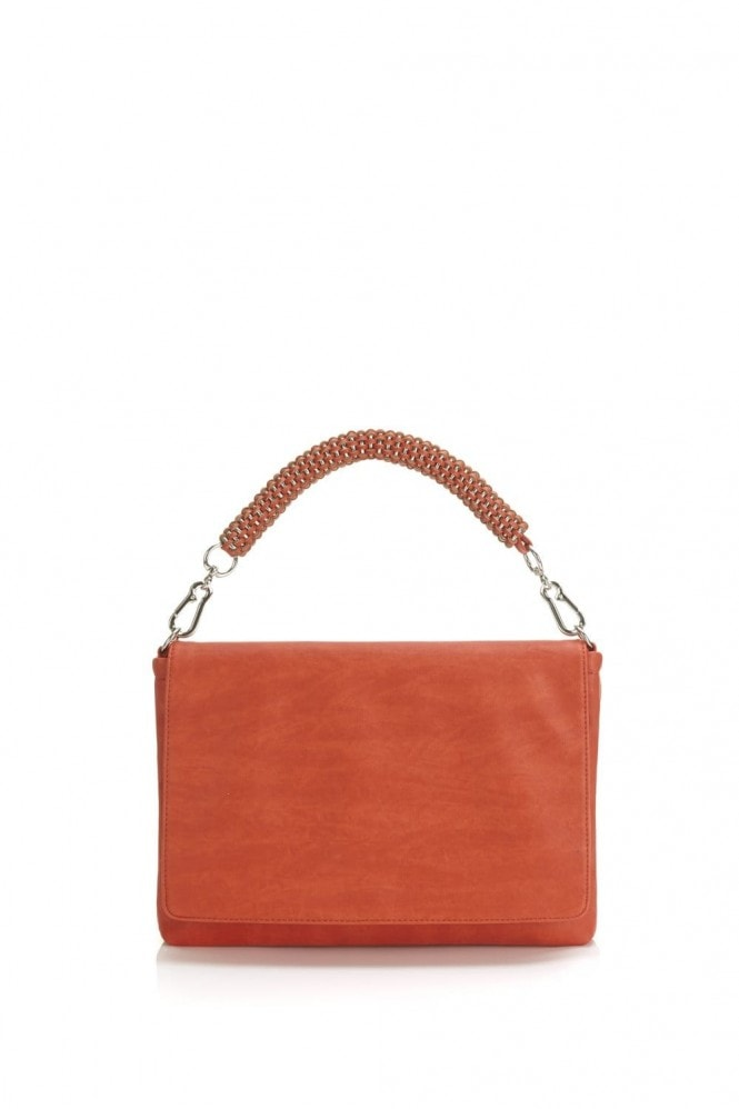 Outlet Paper Dolls Red Woven Strap Bag