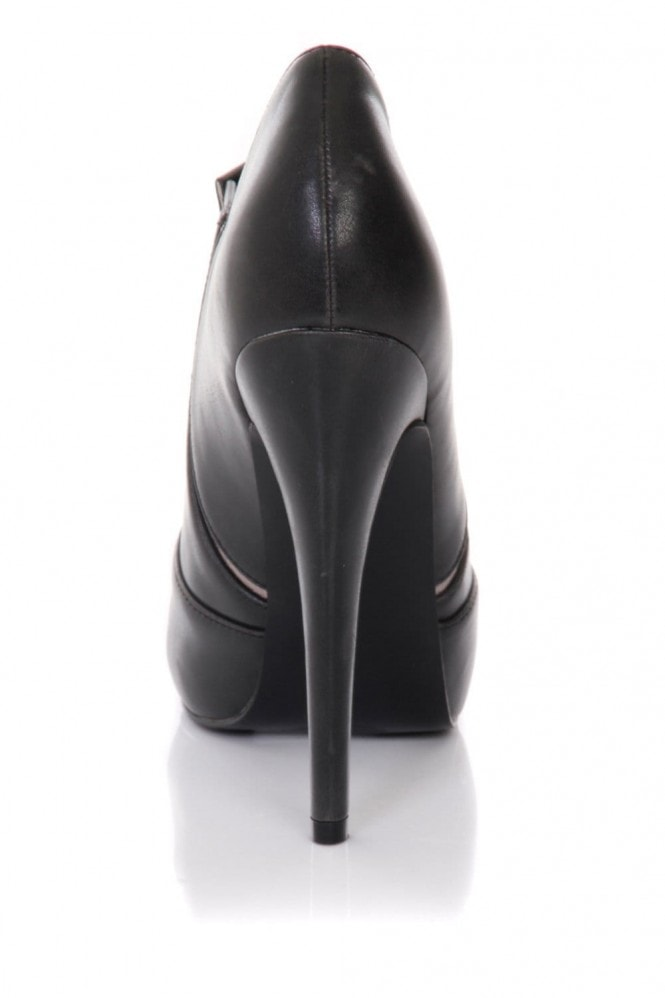 Little Mistress Footwear Black Stiletto Heel Ankle Boots