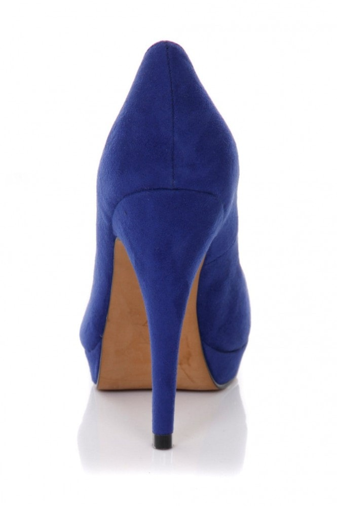 Outlet Paper Dolls Blue Classic Stiletto Court Shoes