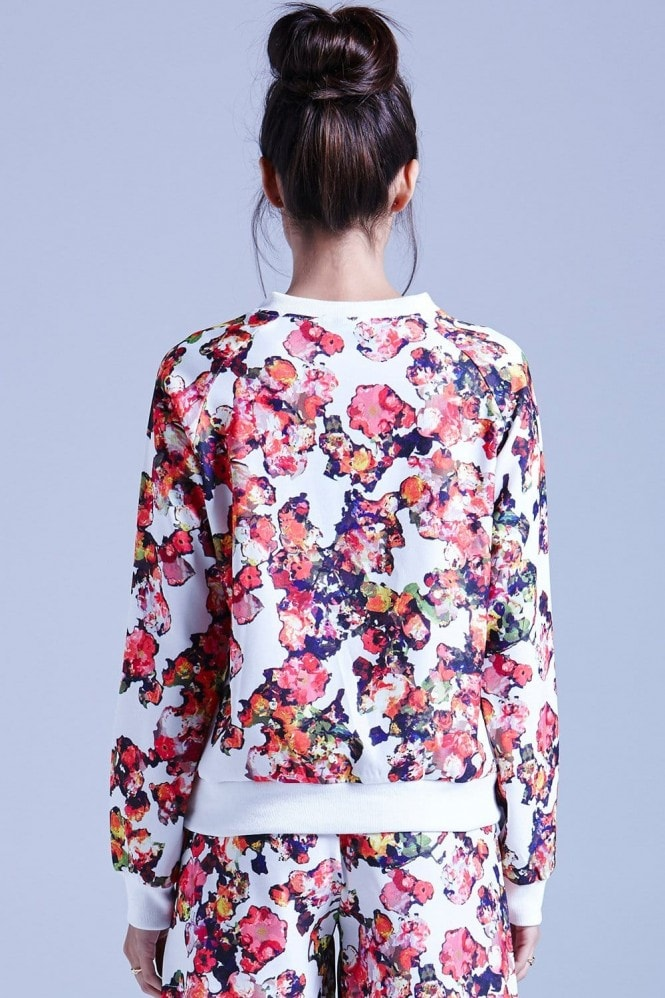 Outlet Girls On Film White Kaleidoscope Floral Jumper
