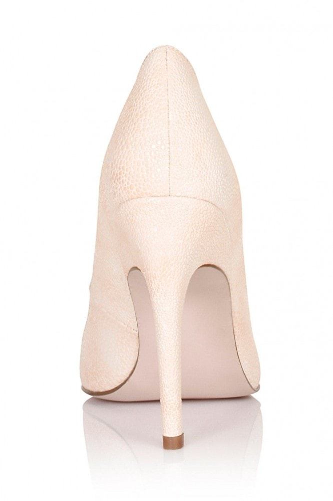 Paper Dolls Nude Pointed Insert Heels