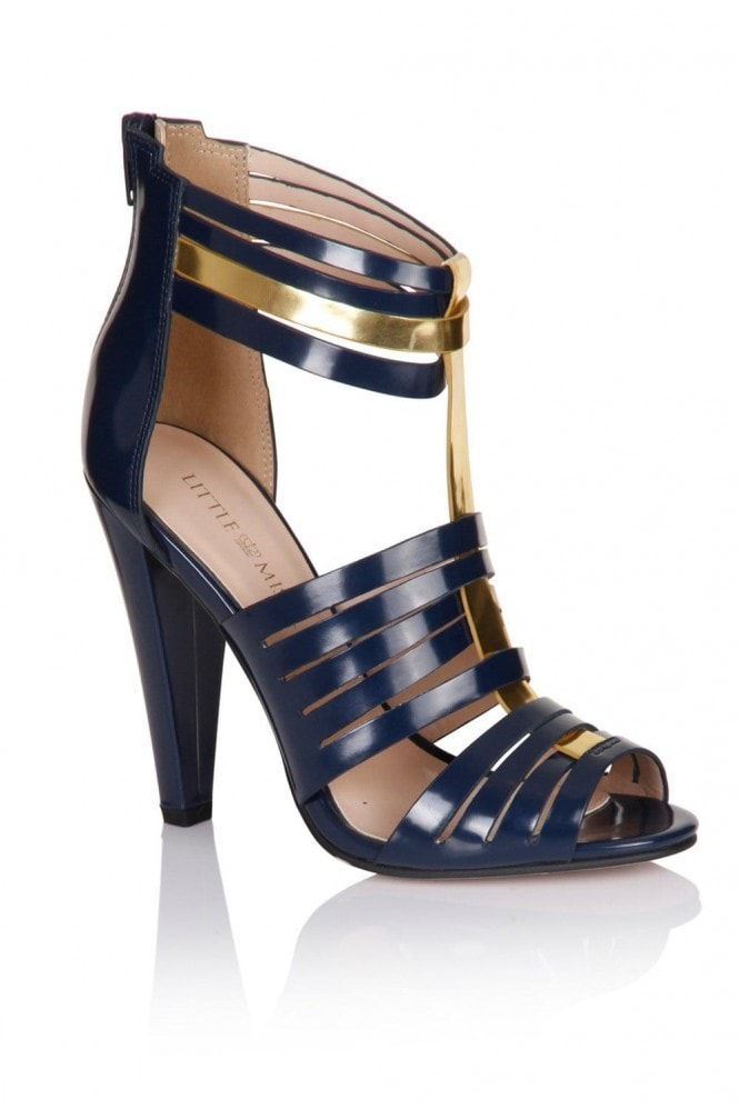 Navy Multi Cut Out Heels