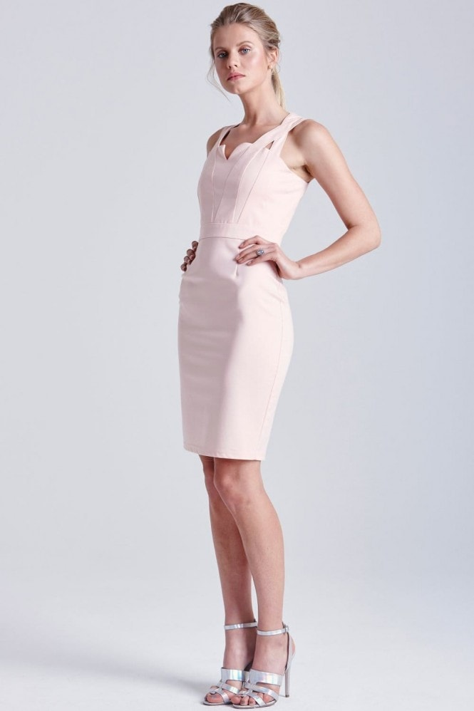Outlet Paper Dolls Blush Top Cut Out Dress