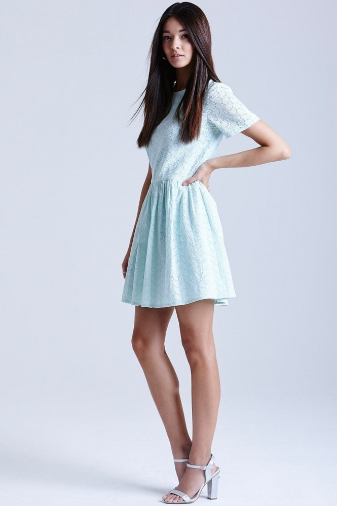 Outlet Girls On Film Mint Lace Tunic Dress