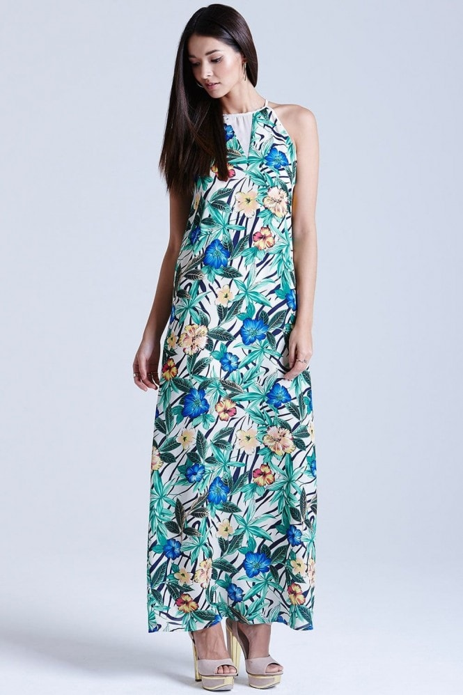 Outlet Girls On Film Hibiscus Print Maxi Dress