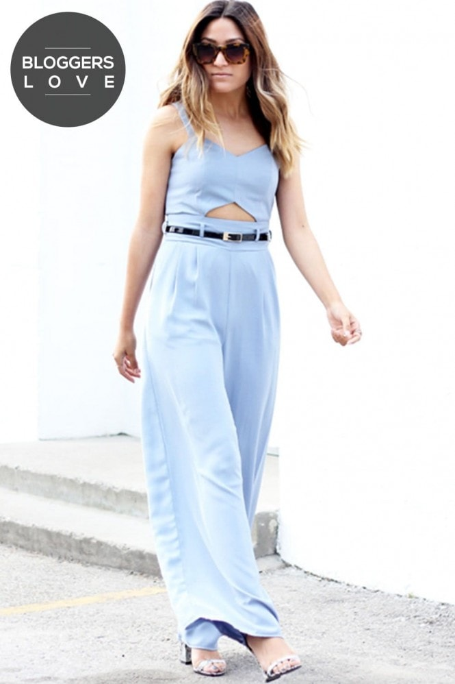 Girls on Film Blue Jumpsuit