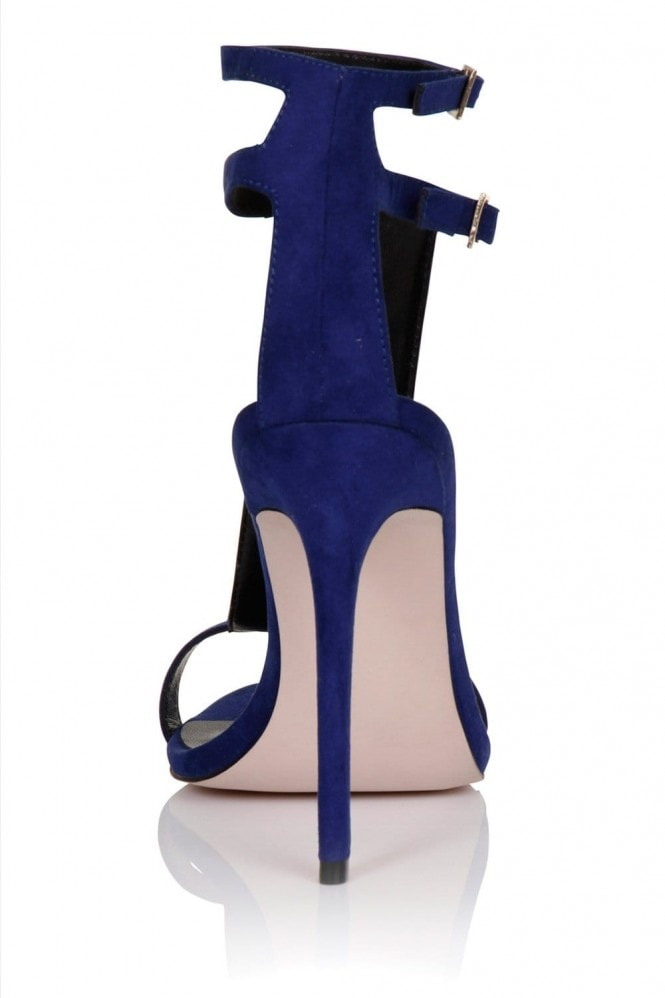 Little Mistress Footwear Cobalt / Multi Stone T-bar heel