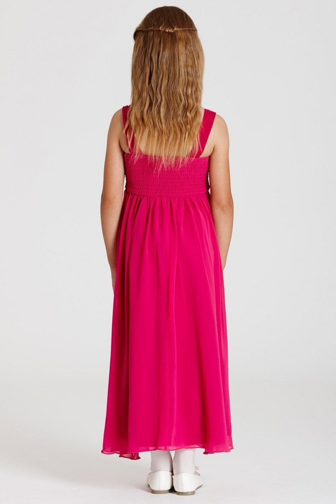 Little MisDress Pink Chiffon Maxi Dress