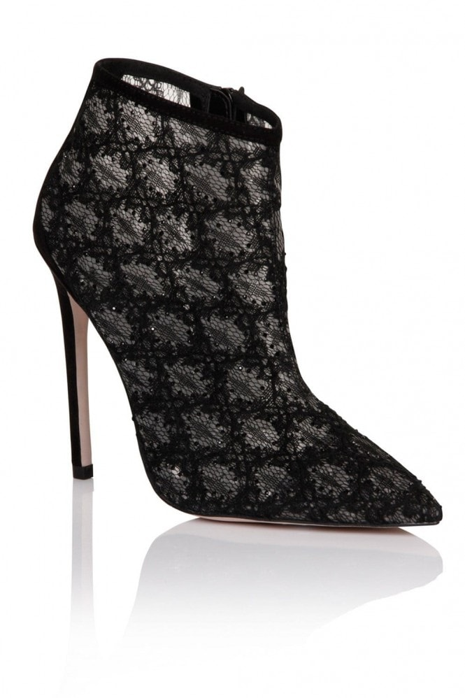 Black Lace Ankle Boot