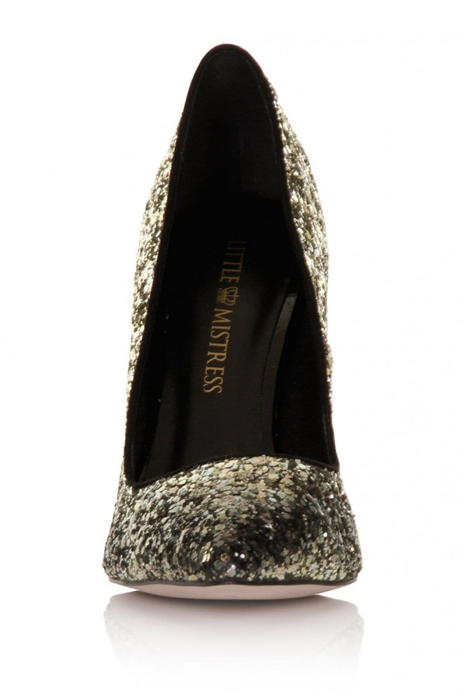 Little Mistress Ombre Gold/ Black Glitter Court