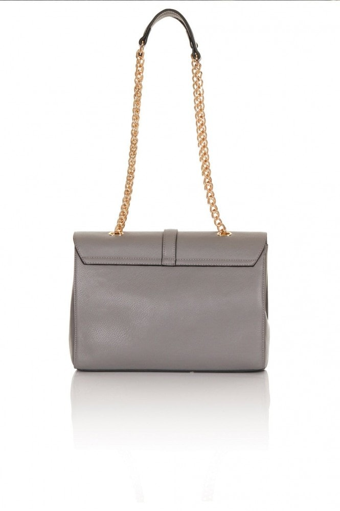1d1b003db4 Medium Grey Suede and Leather Shoulder Bag - from Little Mistress UK