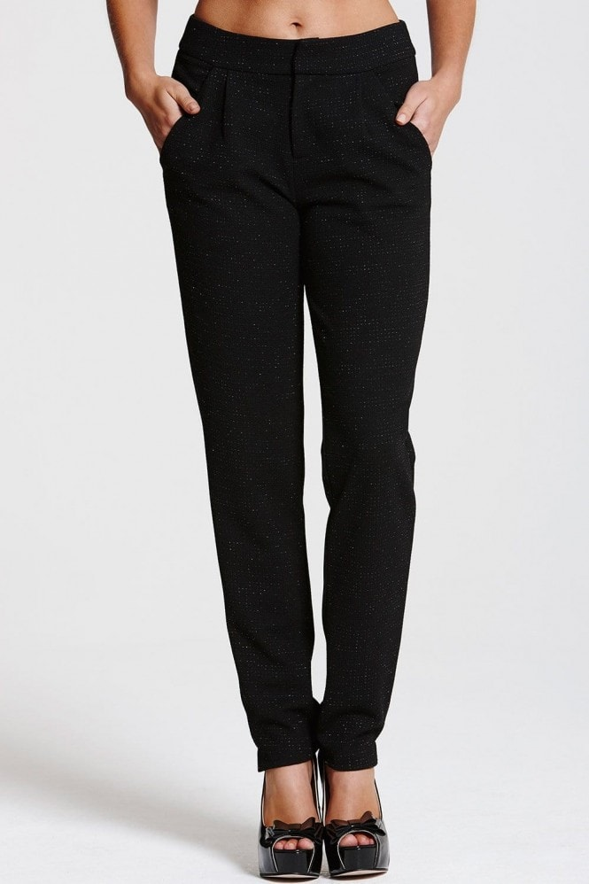 Outlet Paper Dolls Black Sparkle Trousers