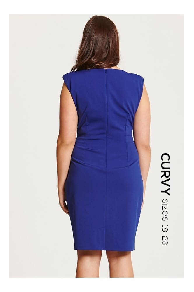 Blue Embellished Bodycon Dress