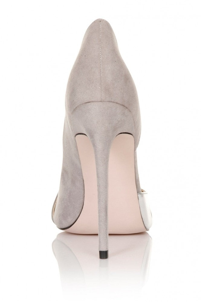 Paper Dolls Footwear Grey/ Silver Metallic Courts