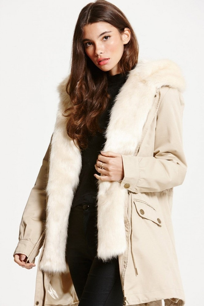 Little Mistress Cream Trench Coat