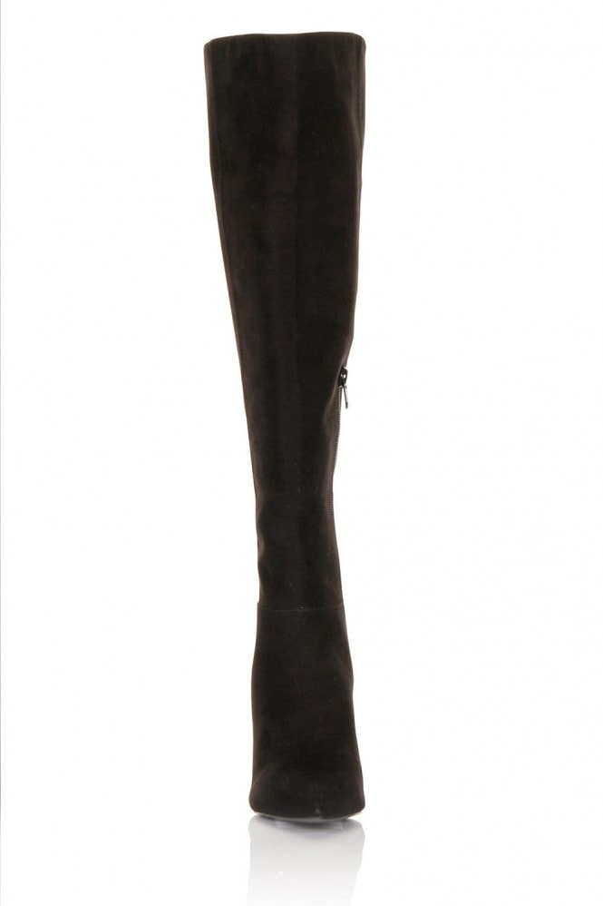 Little Mistress Footwear Micro-Fibre Knee High Point Toe Boots