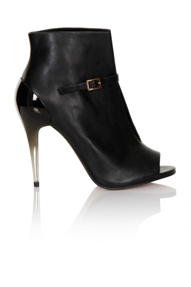 Little Mistress Ombre Heel Buckle Ankle Boot