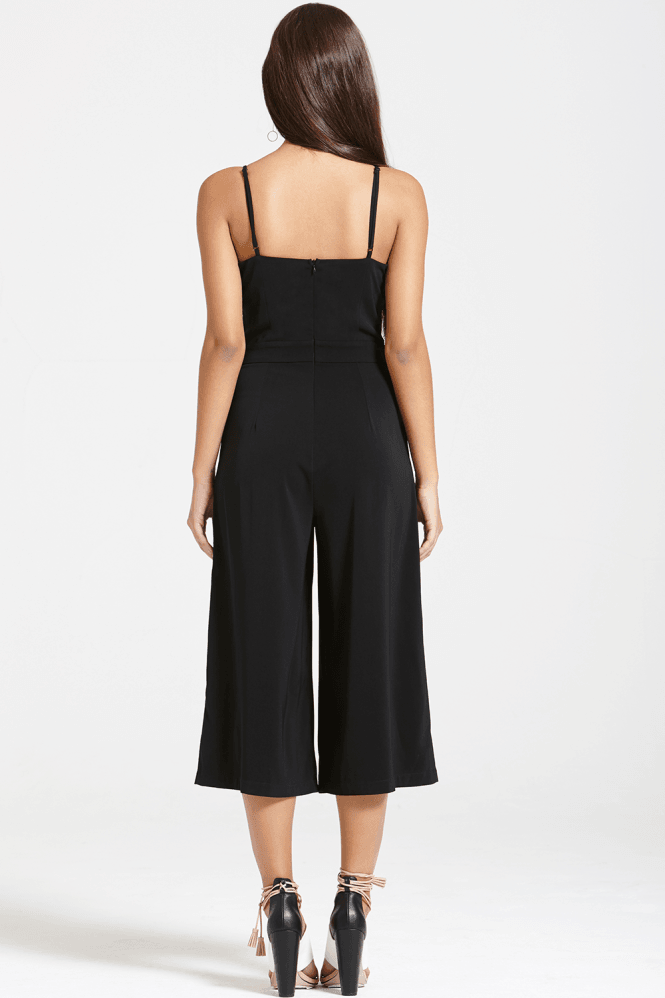 Outlet Girls On Film Black Cut Out Jumpsuit