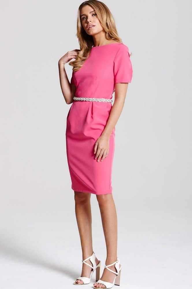 Paper Dolls Pink Jewel Waist Dress