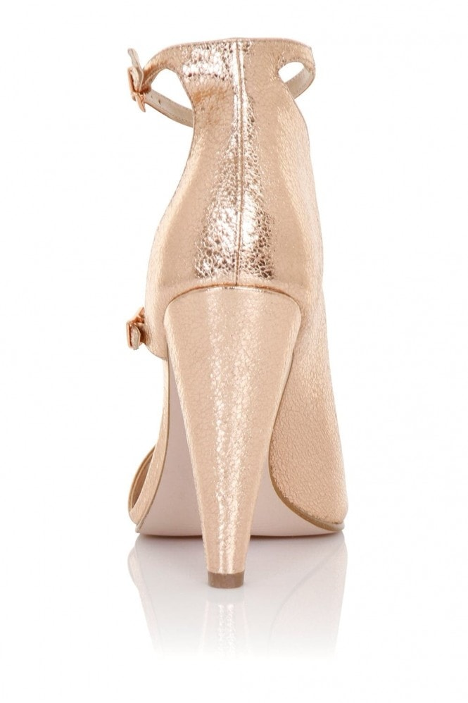 Little Mistress Footwear Hazel Rose Gold Cut Out Shoe Boot