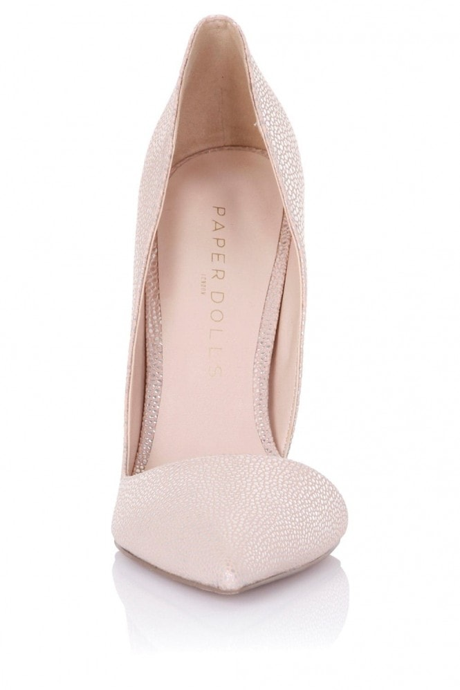 Paper Dolls Footwear Nissa Nude Stingray D'Orsay Court