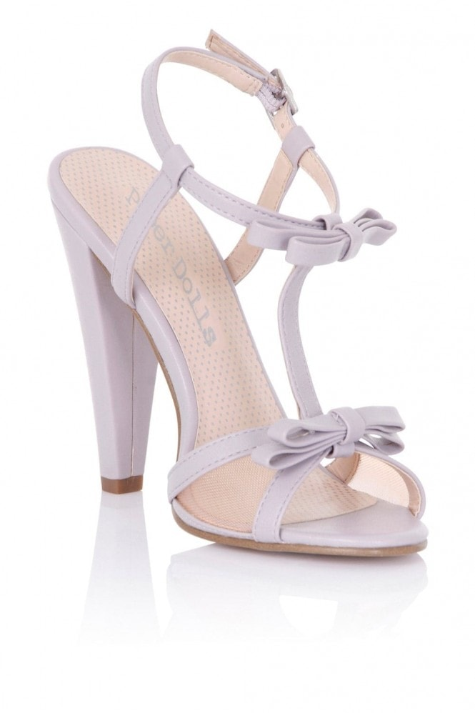 Outlet Paper Dolls Ellette Lilac Mesh Bow Sandals