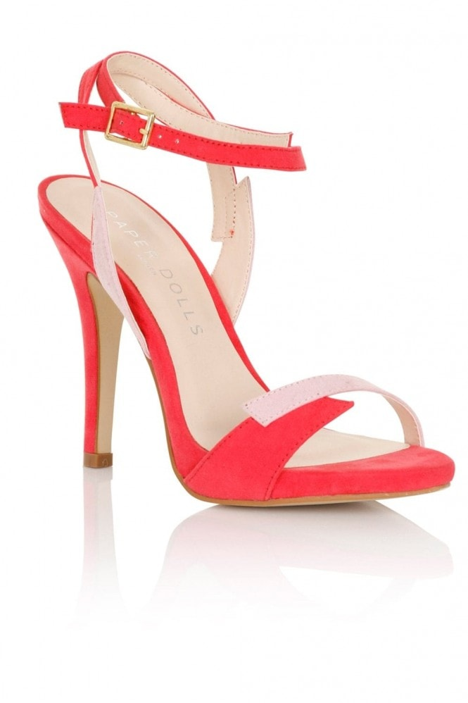 Little Mistress Footwear Lightning Pink Contrast Sandals