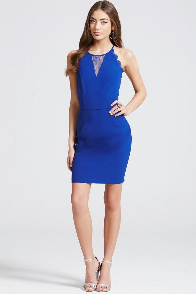 Outlet Girls On Film Cobalt Bodycon