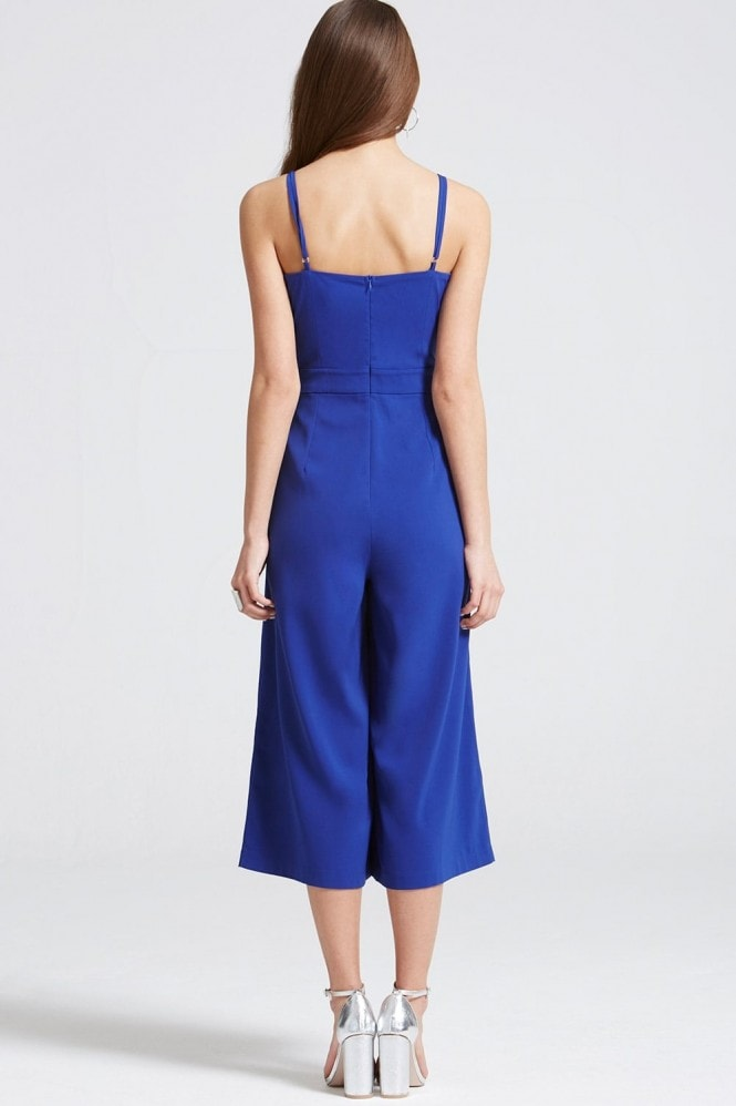 Girls on Film Cobalt Cut Out Jumpsuit