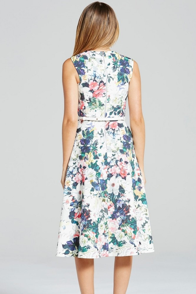 Paper Dolls Multi Floral Print Fit and Flare Dress