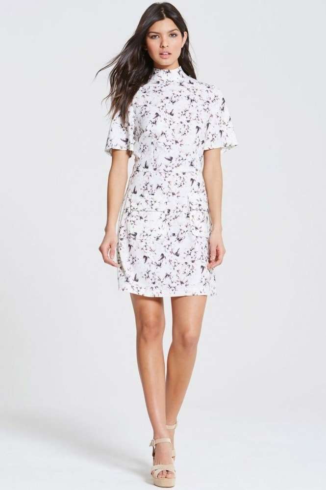 Outlet Girls On Film Floral Print High Neck Dress