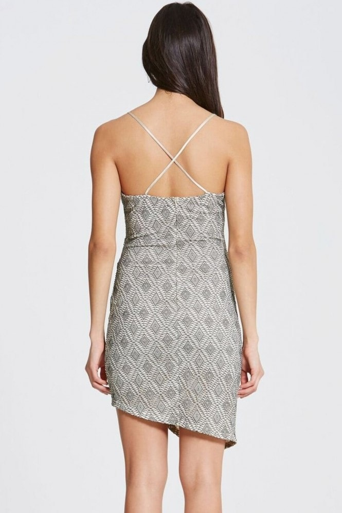Outlet Girls On Film Grey Lace Dress