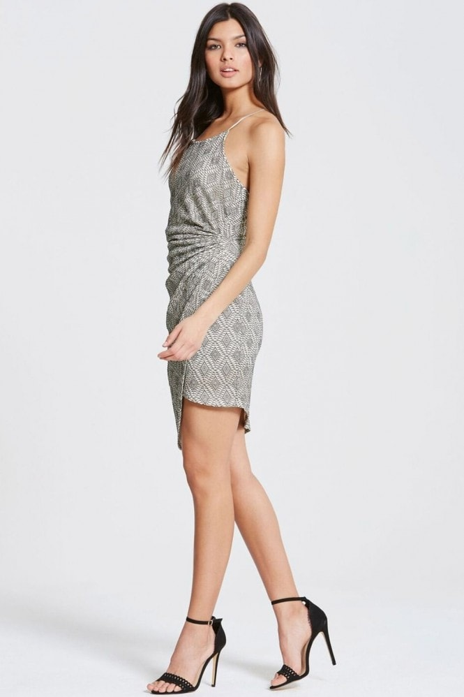 Girls on Film Grey Lace Dress