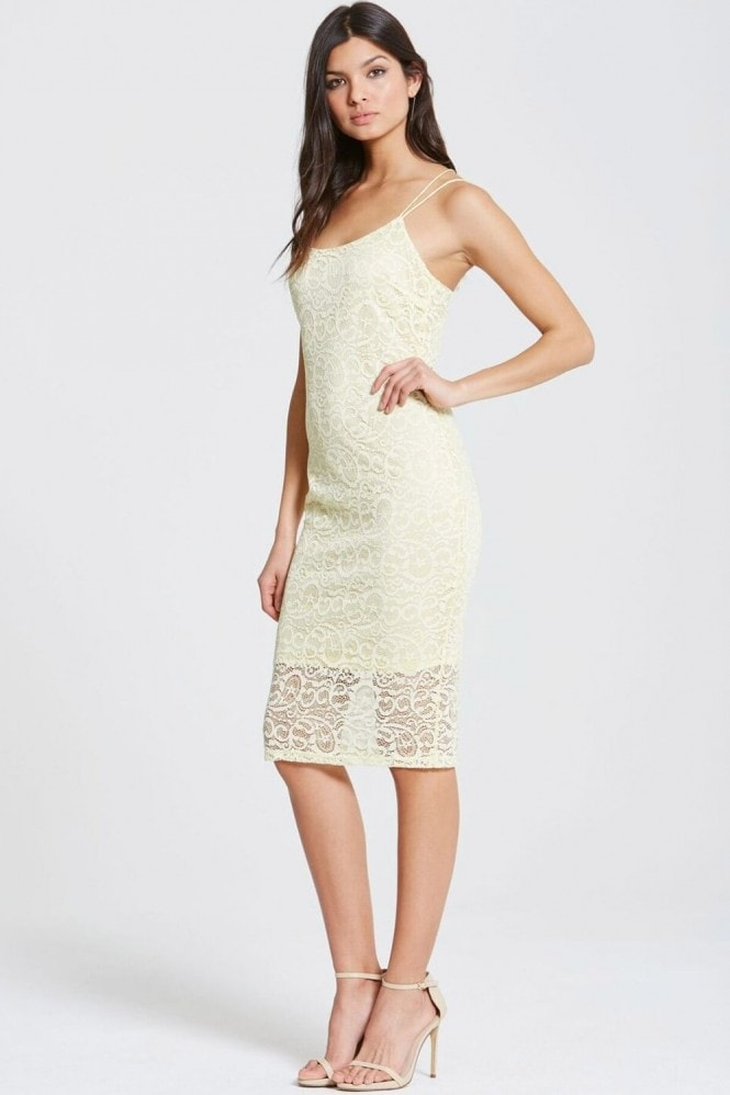 Girls on Film Pale Yellow Bodycon