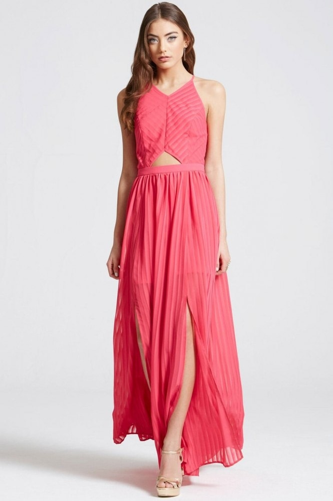 Outlet Girls On Film Hot Pink Maxi Dress