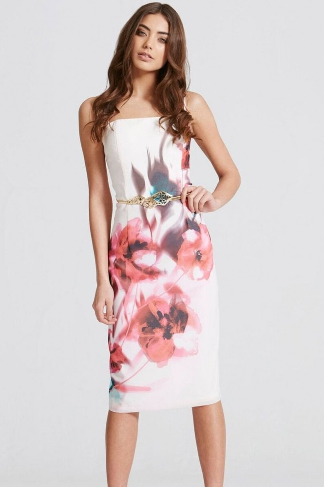 Blur Print Bandeau Dress