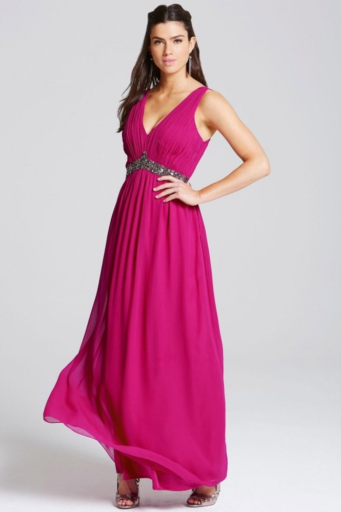 Cherry Embellished Waist Maxi Dress