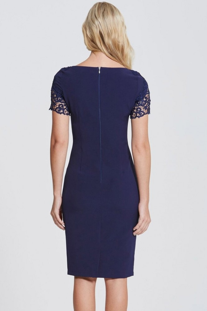 Paper Dolls Navy Lace Detail Bodycon Dress
