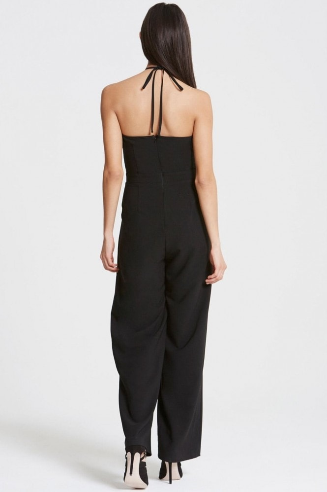 Girls on Film Black Backless Jumpsuit